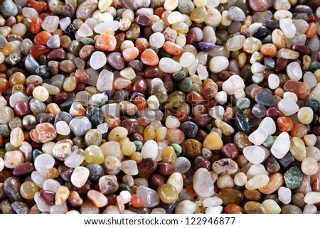 Stones of various shapes and colors for backgrounds - stock photo