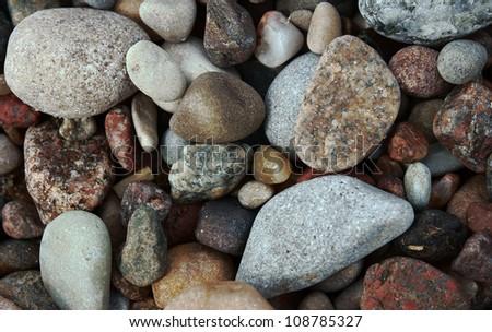stones on beach, Baltic sea - stock photo
