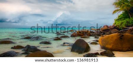 Stones on the beach - stock photo