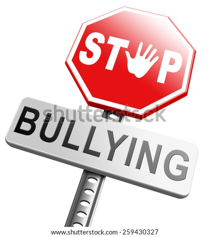 stop bullying no harassment or threat at school or at work stopping an online internet bully