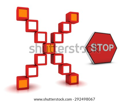 stop button - stock photo