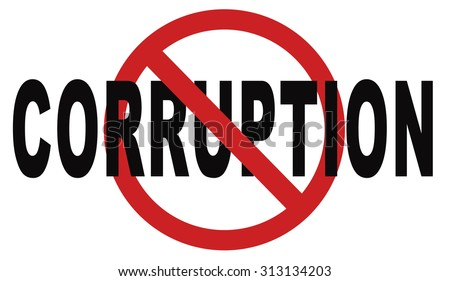 stop corruption fraud and bribery political or police can be corrupt - stock photo