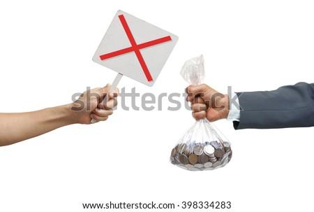 Stop corruption / No corruption - stock photo