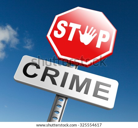 stop crime stopping criminals by neighborhood watch or police force fight criminal behavior stopping violence and arrest offenders or just by prevention - stock photo