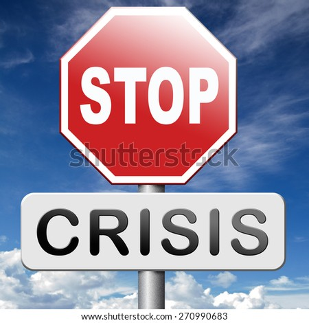 stop crisis recession and inflation   - stock photo