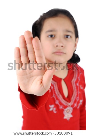 stop girl - stock photo