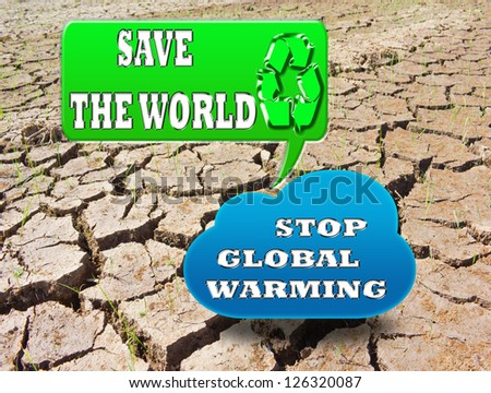 Stop global warming concept. Save the world - stock photo