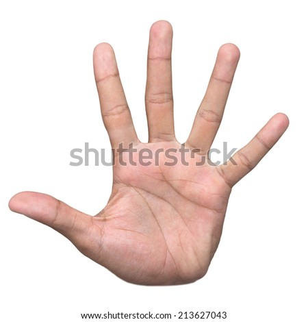 Stop hand sign - stock photo
