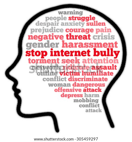 Stop internet bully in word cloud concept - stock photo