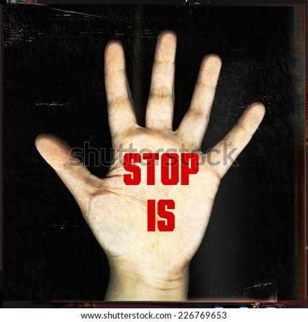 stop IS - stock photo