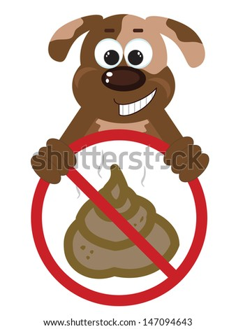 Stop Poop Sign  - stock photo