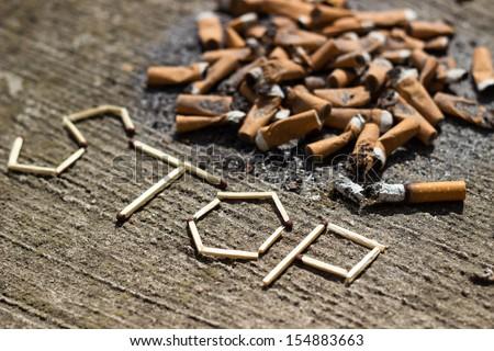 Stop smoking! - stock photo