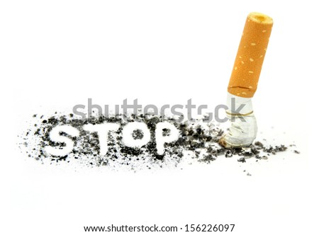Stop smoking - stock photo