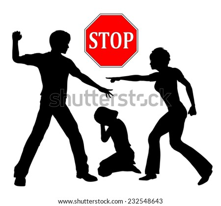 Stop violence against Children. Corporal punishment like spanking in order to discipline children is out of any question - stock photo
