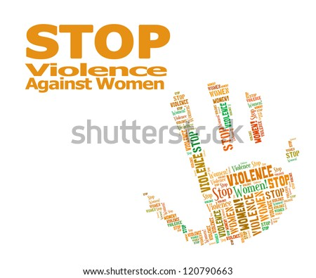 Stop Violence Against Women word clouds - stock photo