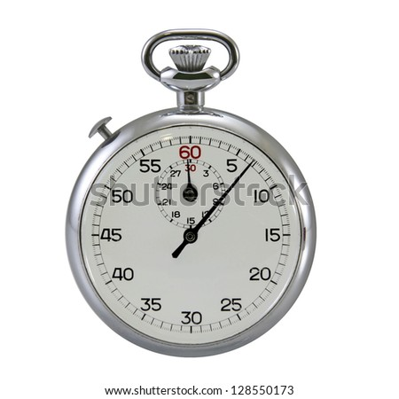 Stop-watch on white background. - stock photo