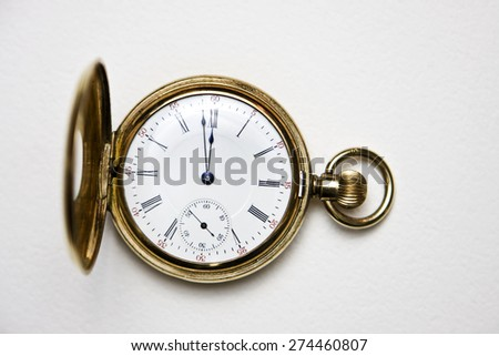 Stop watch with white background - stock photo