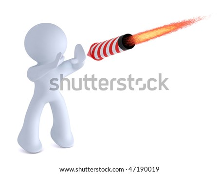 Stopping the rocket - stock photo