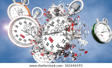 Stopwatch and time for change - stock photo