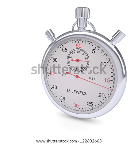 Stopwatch. Isolated render on a white background - stock photo