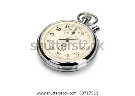 Stopwatch, isolated with clipping path - stock photo
