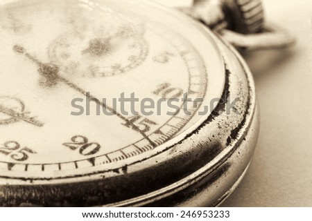 Stopwatch on white background - stock photo
