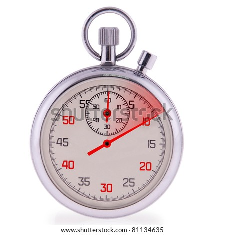 Stopwatch on white. Clipping path included - stock photo