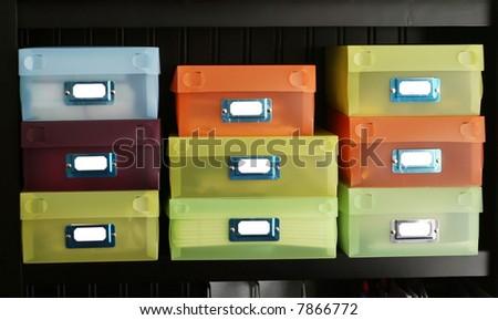Storage boxes - stock photo