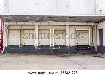 Storage entrances - stock photo