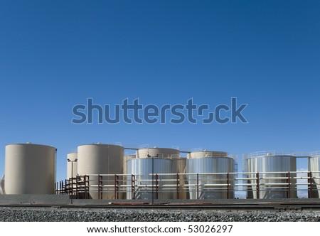 Storage tank yard - stock photo