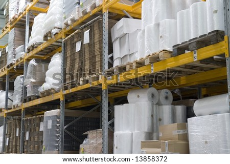store-house in factory - stock photo