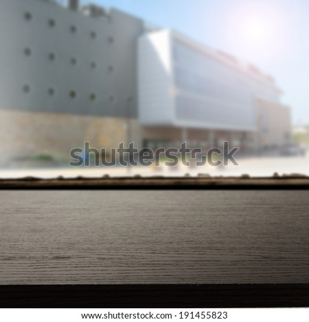 storefront and street  - stock photo