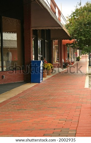 Storefront sidewalk - stock photo