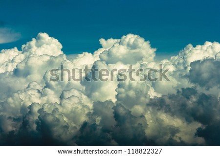 storm clouds background - stock photo