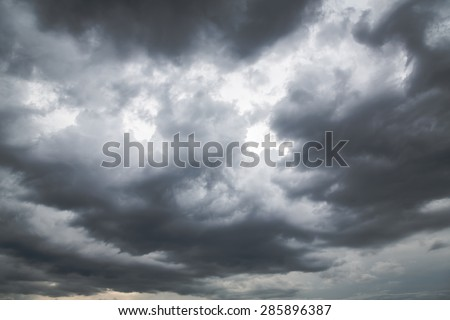 Storm clouds before rain - stock photo