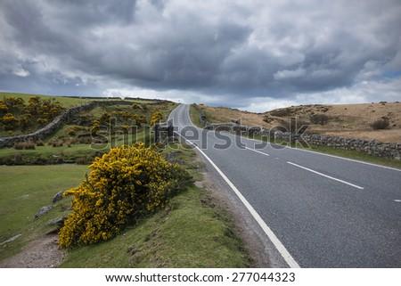 Storm Clouds in Dartmoor National Park in Devon, UK. - stock photo