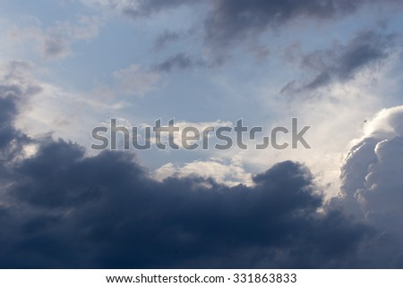 storm clouds in the sky as the background - stock photo