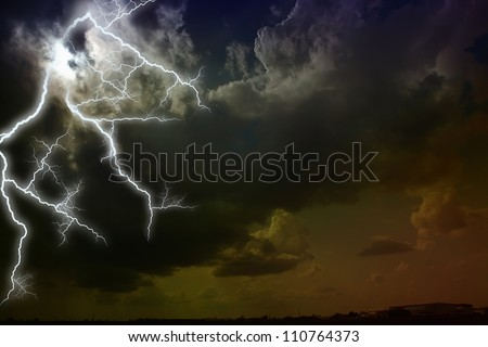 Storm clouds. The sky a background. - stock photo