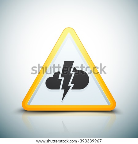 Storm Hazard sign - stock photo