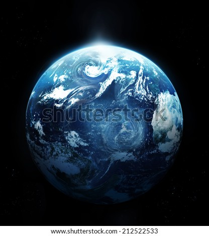 Storm on the planet earth - Original image from NASA  - stock photo