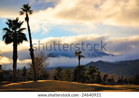 Storm Over Sun City, Las Vegas - stock photo