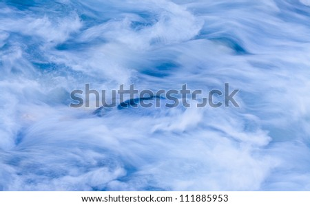 Storm river water background - stock photo