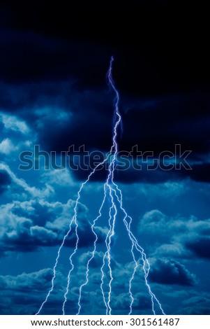 Storm, the sky, Thunder - stock photo