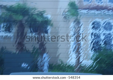 Storm through the window - stock photo