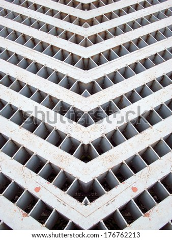 Storm water drain close up - stock photo