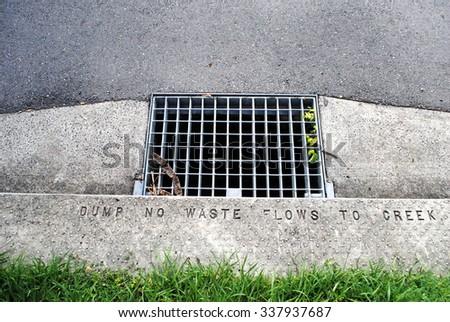 Storm water drain in Grange, Brisbane - stock photo