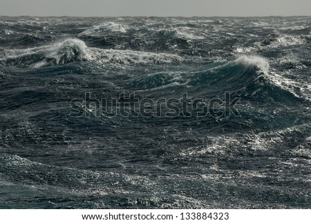 Storm waves. Pacific ocean - stock photo