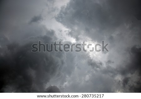 Stormy Clouds and Sky Background - stock photo