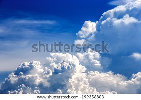 stormy clouds show the power of the nature - stock photo