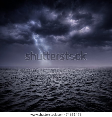 stormy ocean - stock photo